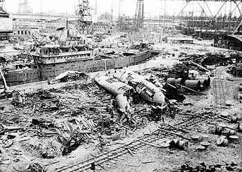 """Zerbombte Hafenanlagen in Hamburg: """"Da war kein Durchkommen!"""""""