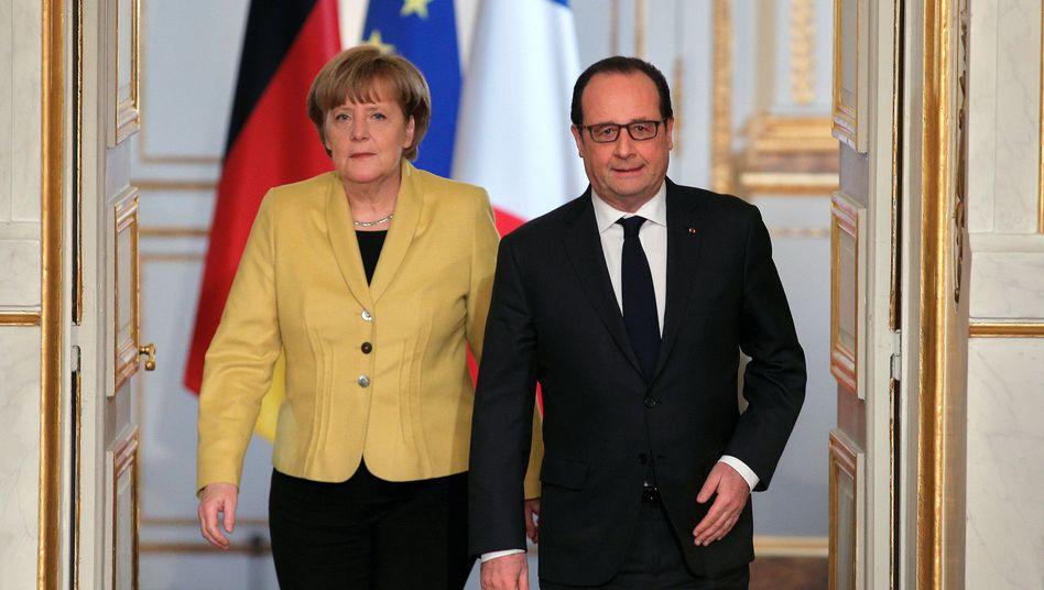 Merkel und Hollande: Schlimmeres verhindern