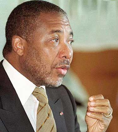 Liberias Präsident Charles Taylor soll zwei al-Qaida-Leute in seinem Land versteckt haben