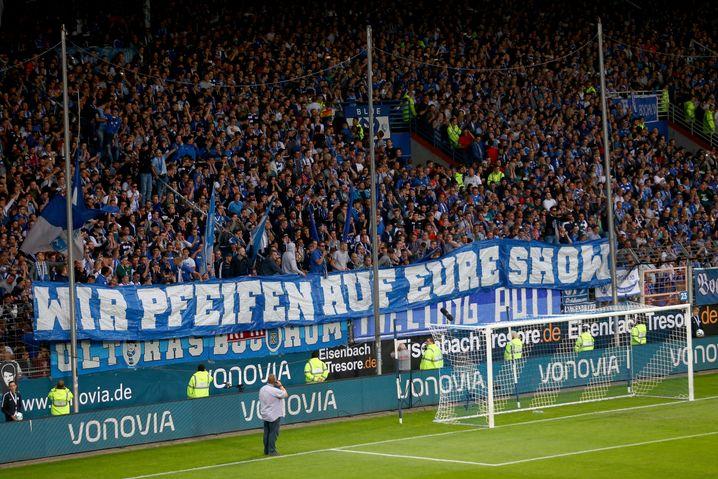 Protest der Bochum-Fans