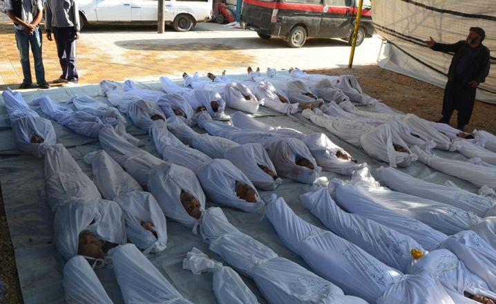 Opfer des Giftgasangriffs vom 21. August 2013