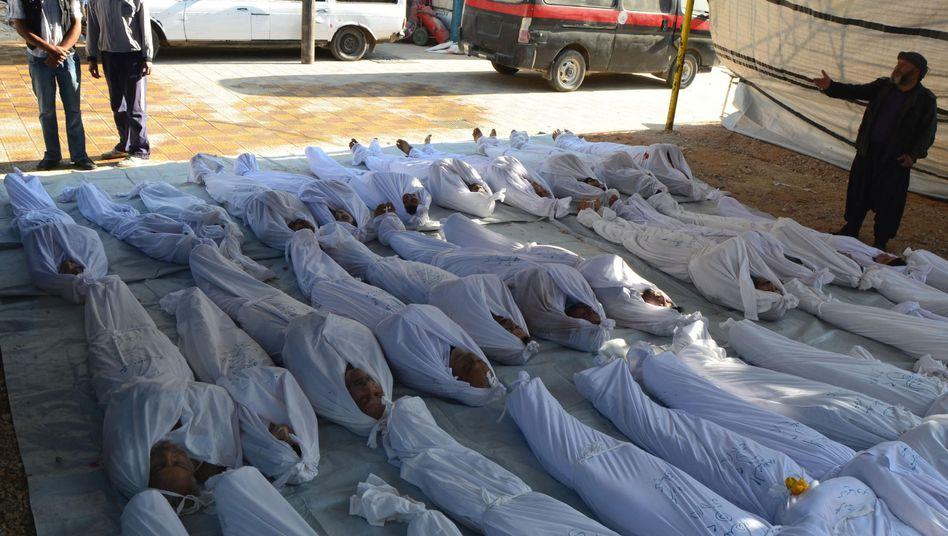 Syrien-Krieg: Briten vermuten Assad-Truppenhinter Giftgasangriff