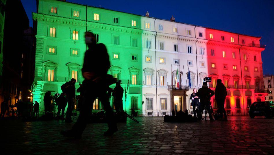 Italienischer Regierungspalast Chigi am Mittwoch