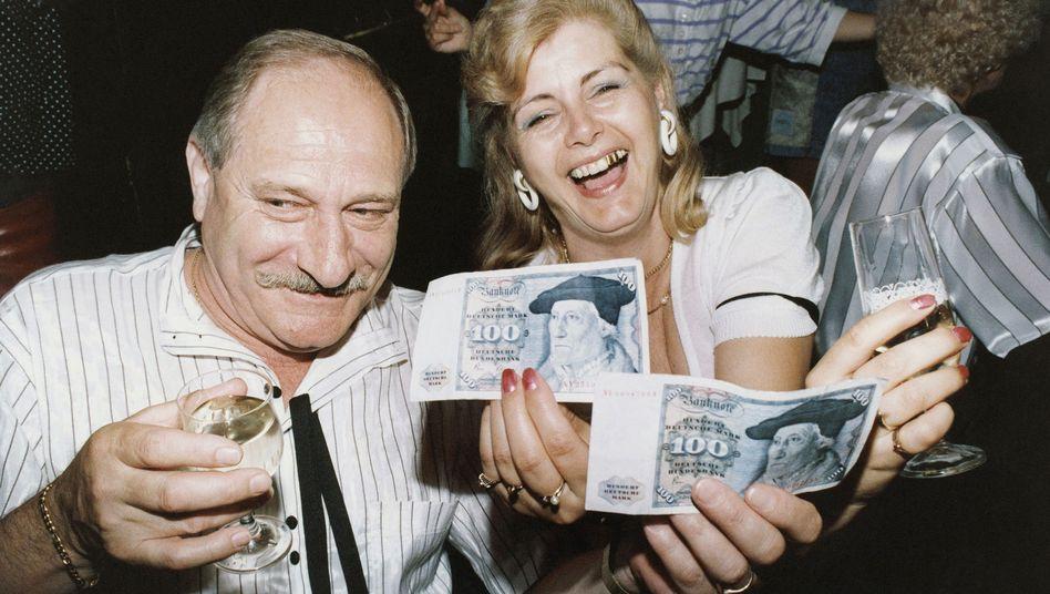 Einführung der D-Mark in der DDR 1990: Grenzenloser Jubel