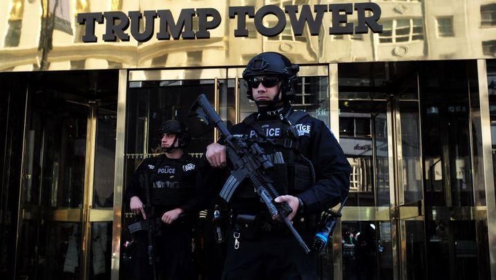 Trump Tower in New York: Verkehrsprobleme am Präsidentenwohnsitz