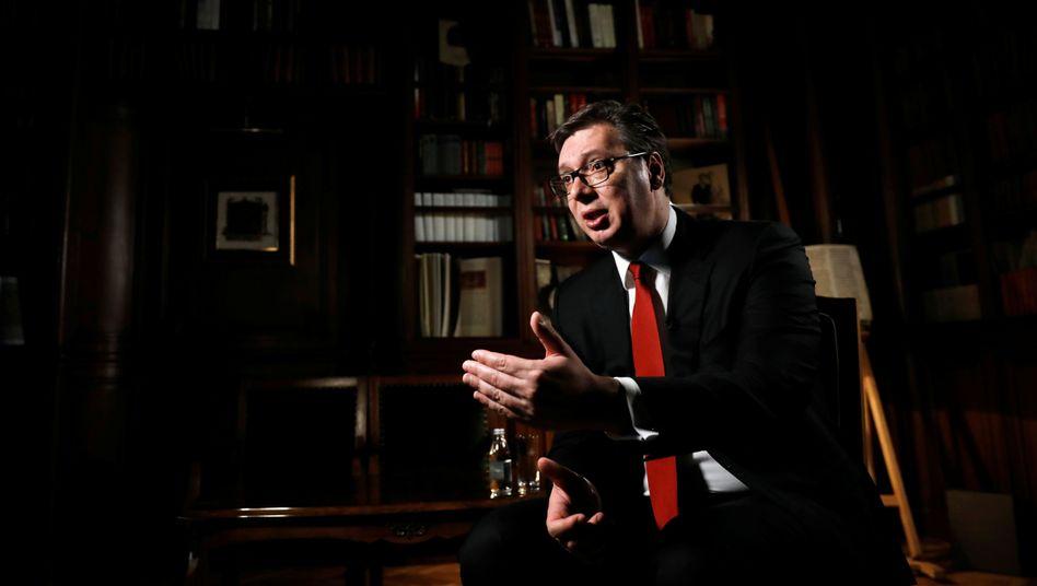 Wählt deutliche Worte: Serbiens Präsident Vucic