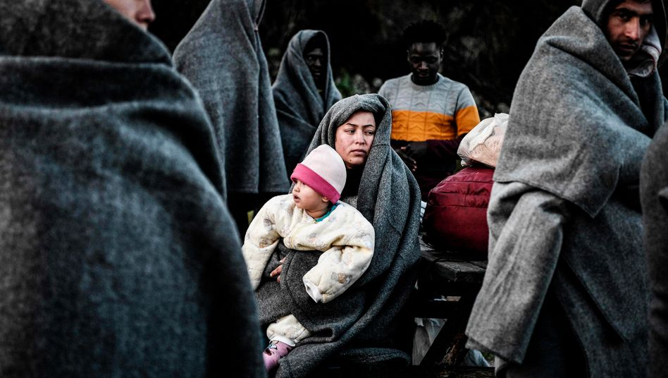 Flüchtlinge auf der griechischen Insel Lesbos (Anfang März 2020)
