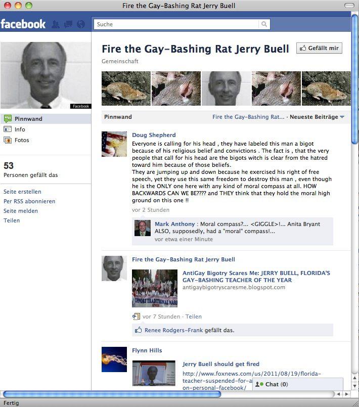 NUR ALS ZITAT Screenshot Facebook Jerry Buell