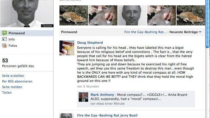 Heiße Debatte im Netz: Facebook-Gruppe gegen den amerikanischen Lehrer Jerry Buell
