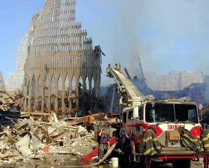 Touristen-Attraktion: Die Ruine des World Trade Center
