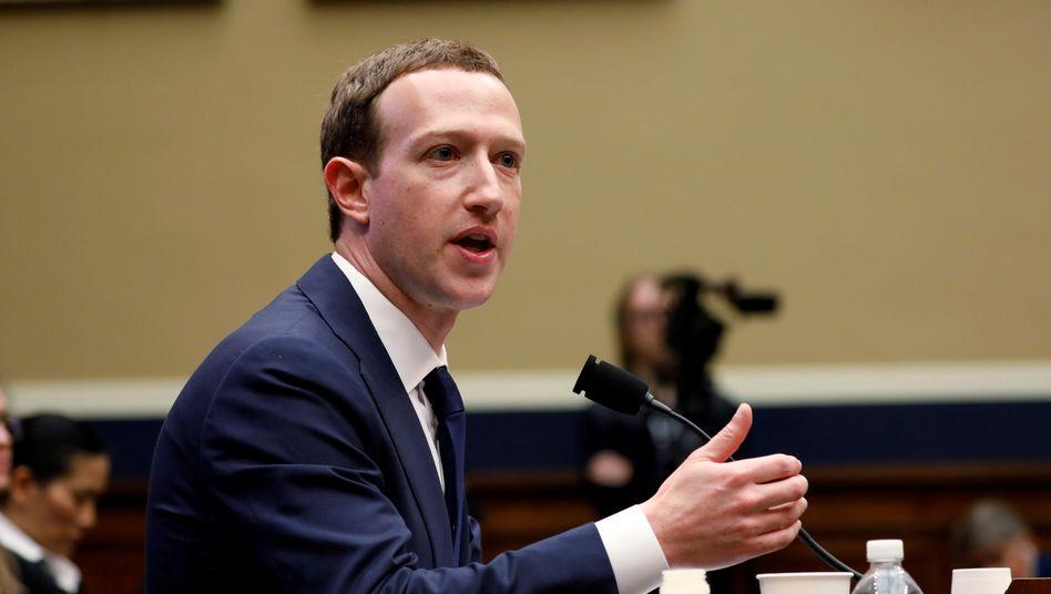 Mark Zuckerberg bei einer Anhörung in Washington