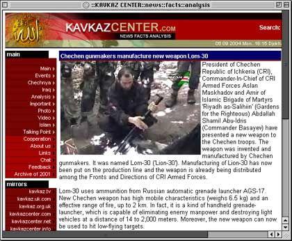 """Internetseite """"kavkazcenter.com"""": Neue Waffen aus eigener Produktion"""