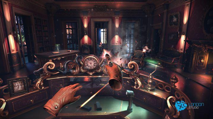 """Morpheus-Spiel """"London Heist"""": Die meisten bislang spielbaren VR-Titel haben wenig mit klassischen Videospielen gemeinsam"""