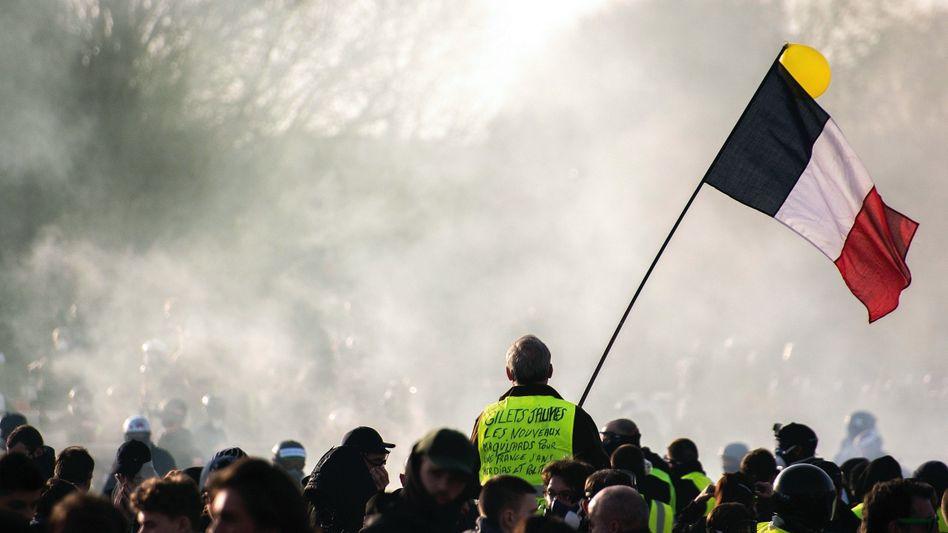 Demonstranten am vorigen Samstag in Paris: Ein kollektiver Tabubruch