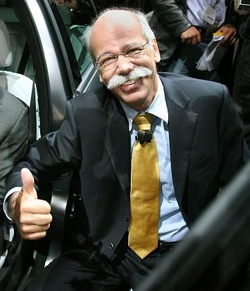"""DaimlerChrysler CEO Dieter Zetsche: """"I also drive a Smart as my personal vehicle. It consumes a lot less gas than any Toyota."""""""