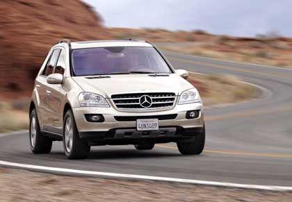 Mercedes-Benz M-Klasse: Wuchtiger Kühlergrill