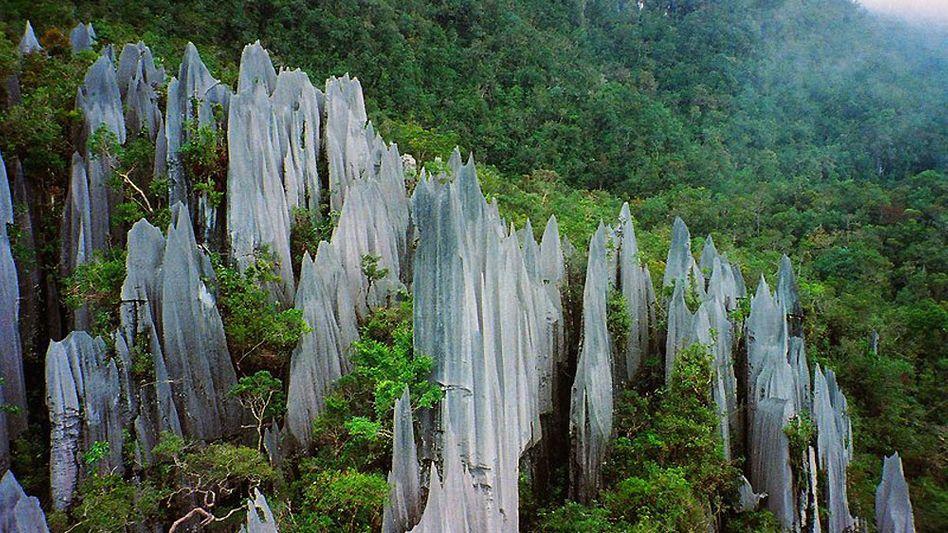 Gesteinsformationen in Borneo