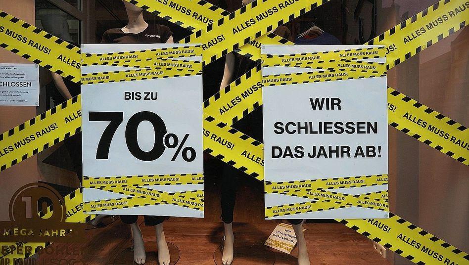 Schaufenster in Lüneburg:Fette Beute für die Internetriesen