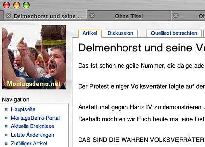 """Screenshot der Internetseite: """"Justiz- und Besatzungswillkühr"""""""