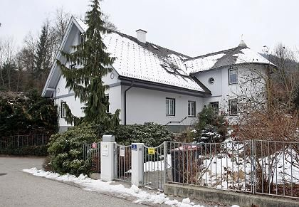 This home in the Austrian city of Klagenfurt was raffled off on Tuesday night.
