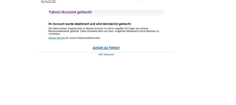 EINMALIGE VERWENDUNG Yahoo Mail/ Screenshots