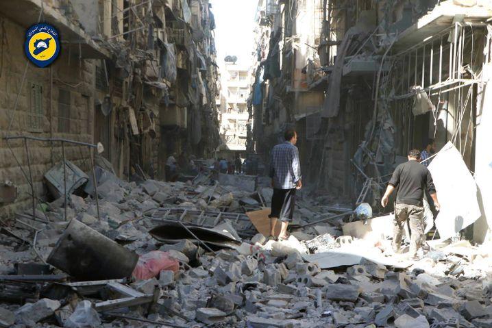 Stadtviertel in Aleppo (Foto von den Weißhelmen)