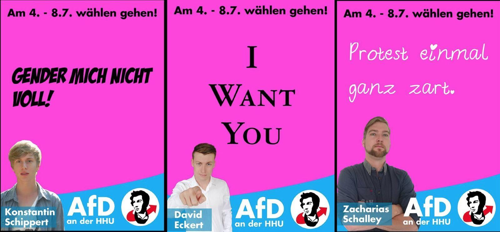 EINMALIGE VERWENDUNG Afd Uni Düsseldorf