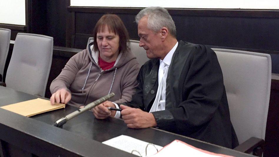 Angeklagte Angelika W. im Höxter-Prozess