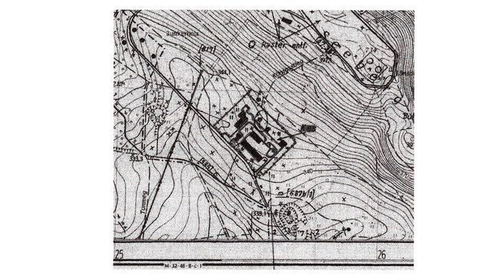Geheime DDR-Landkarte des Großen Seebergs nahe Gotha (Thüringen): Ein Ort wurde als zur Tilgung bestimmt markiert.