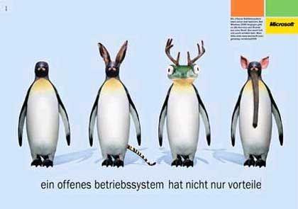 Spottende Anti-Linux-Anzeige von Microsoft: Zu viele Mutanten?