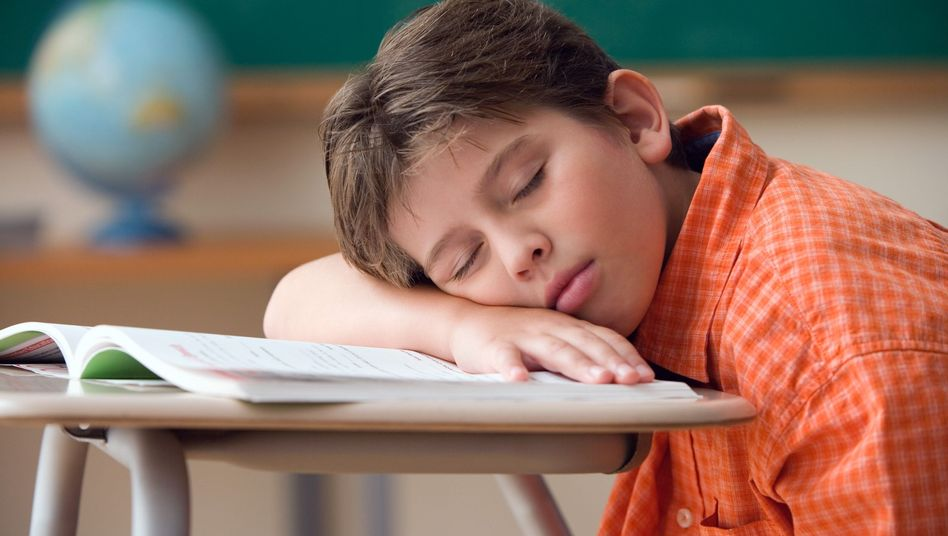 Schlafen im Unterricht: Einfach noch nicht aufnahmefähig