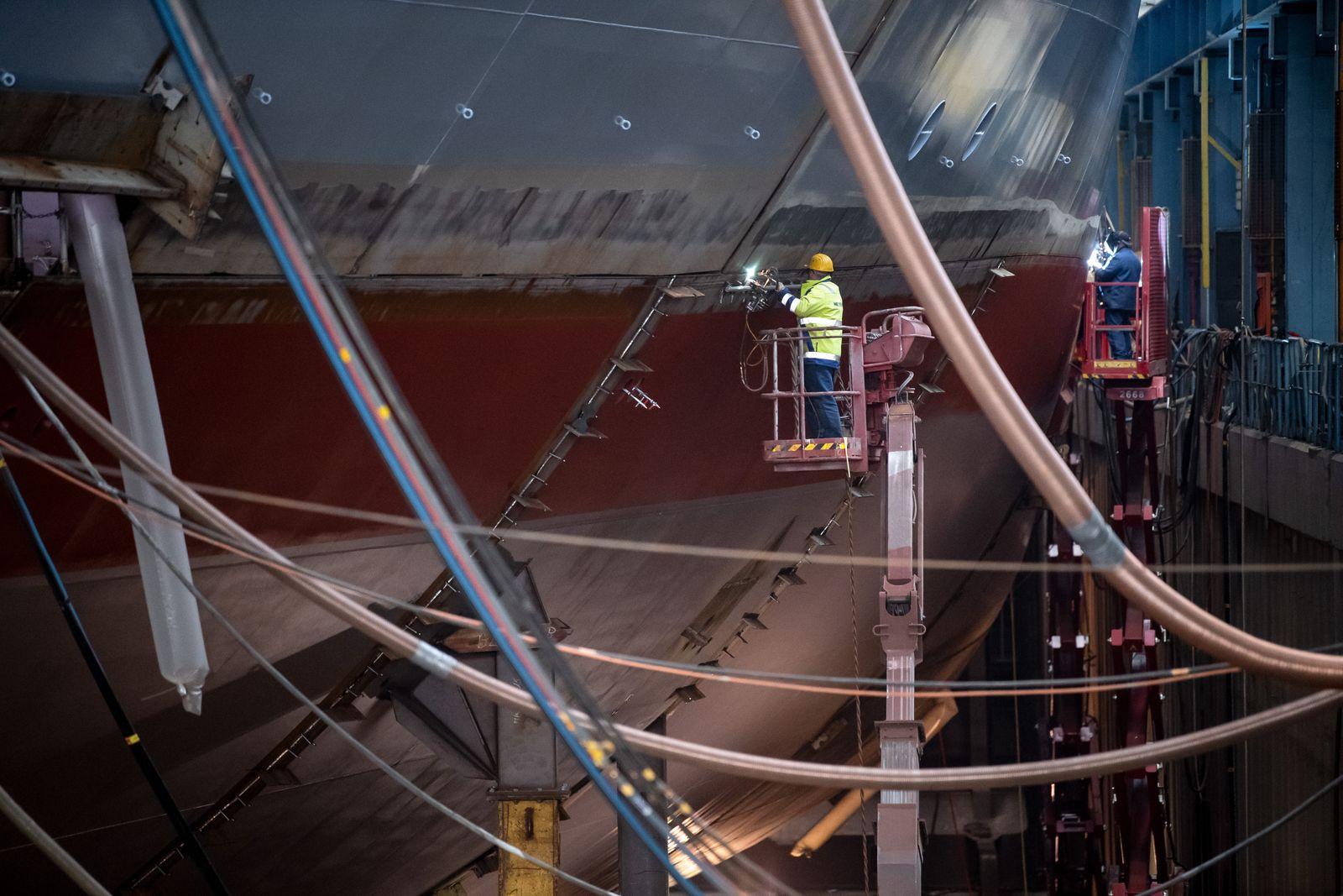 Kreuzfahrtschiffbauer Meyer-Werft geht ab 1. Mai in Kurzarbeit