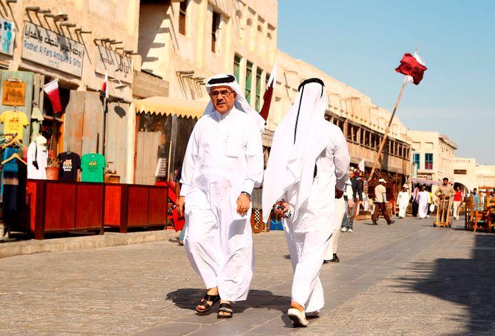 Kataris in Doha: Die eigene Bevölkerung schützen
