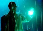Laserlicht bei Popkonzert