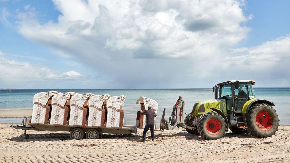 Strandkörbe in Scharbeutz: Wie sieht die Normalität nach der Pandemie aus?