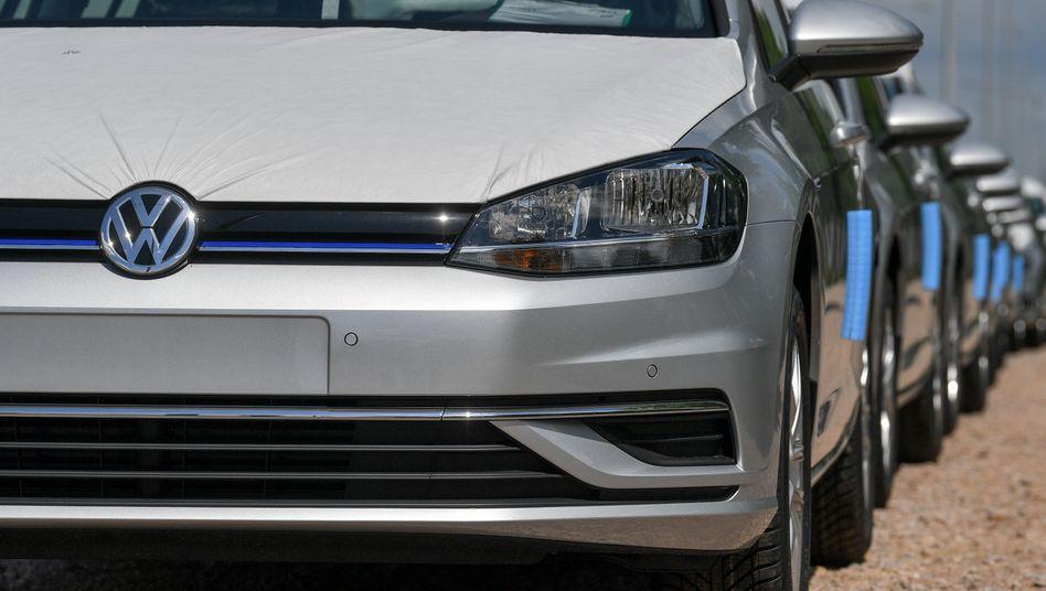 VW-Golf-Modelle in Zwickau