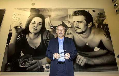 """""""Ich möchte den Leute klarmachen, dass ich mich als Künstler fühle"""": Hopper vor einem seiner Werke"""