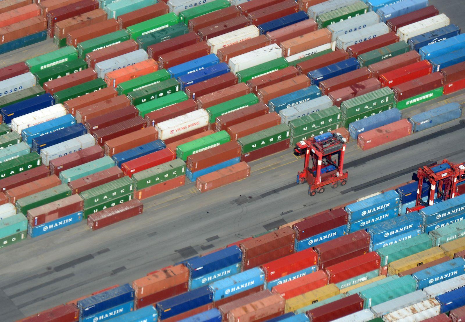 Container Hafen Hamburg Exporte