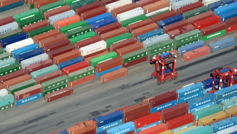 Container im Hamburger Hafen (Archivfoto)