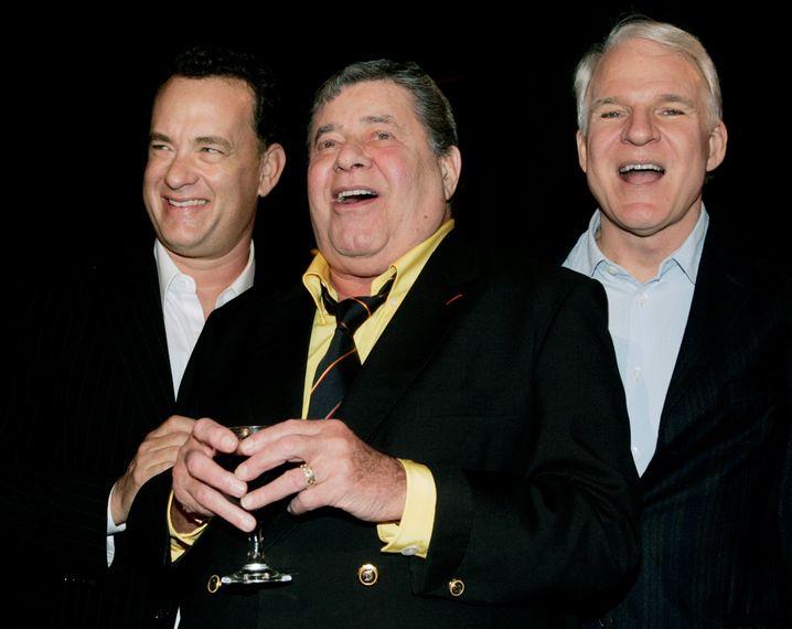 Lewis (Mitte) mit Tom Hanks und Steve Martin bei einer Filmvorführung in Hollywood