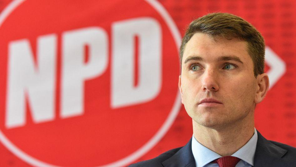 Neuer NPD-Chef Frank Franz: Stundenlange Debatten in Weinheim