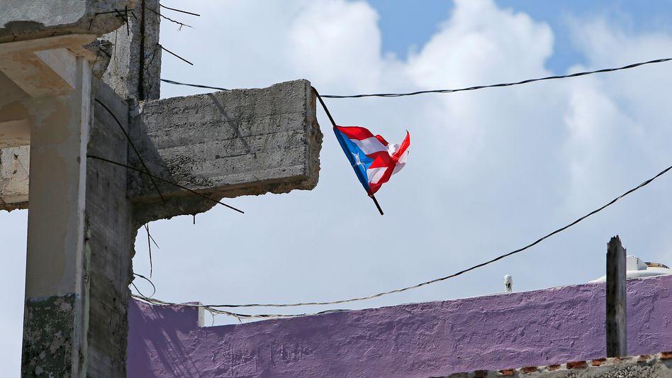 Hurrikan-Schäden in San Juan, Puerto Rico