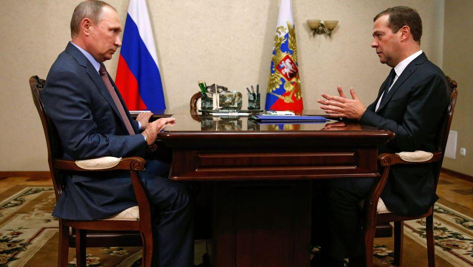 Wladimir Putin und Dmitrij Medwedew