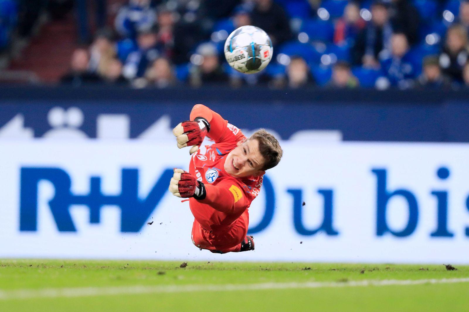 NUEBEL Alexander Torwart Team SC Schalke 04 DFL Fussball Bundesliga Saison 2019 - 2020 Spiel FC Schalke 04 - SC Paderbor