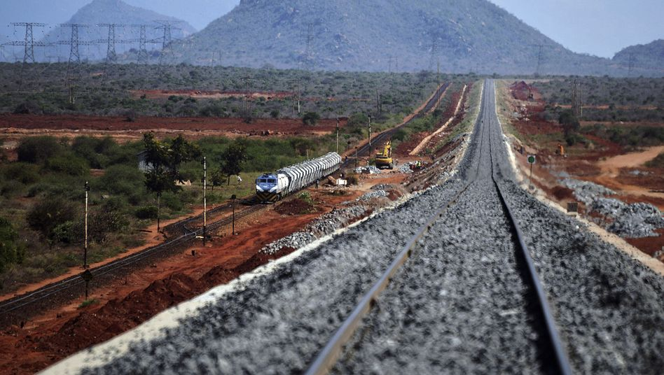 Zugstrecke in Kenia