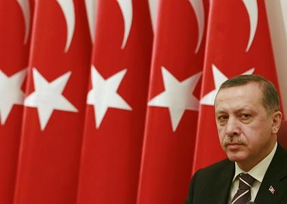 Turkey's Prime Minister Tayyip Erdogan, seen here chairing the annual meeting of the High Military Council in Ankara on December 2,