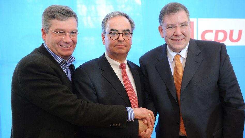 Neues Team: Der Landesvorsitzende Schira, Scheuerl und Hamburgs Bürgermeister Ahlhaus