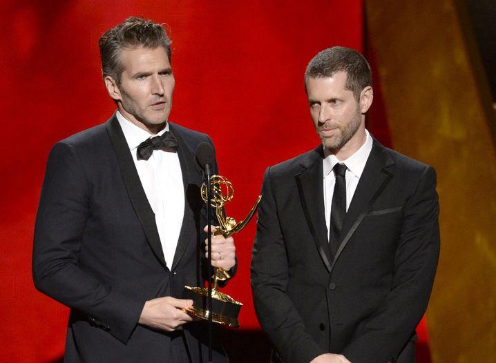 David Benioff (l.) und D.B. Weiss (bei der Emmy-Verleihung 2015)