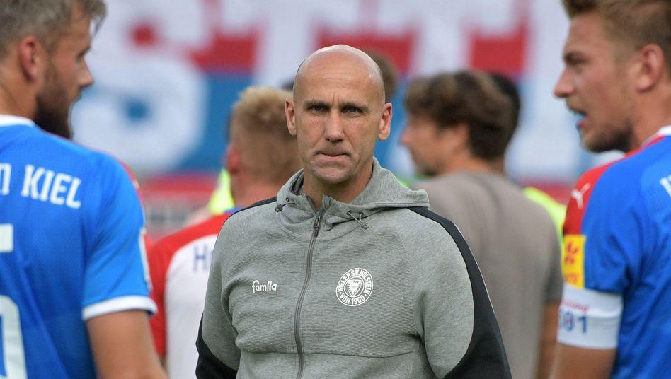 Trainer André Schubert hatte das Team von Holstein Kiel erst im Sommer übernommen