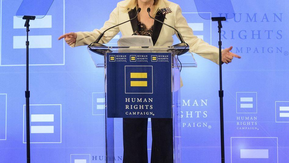 Meryl Streep bei ihrer Rede in New York